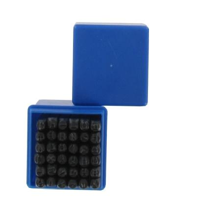 Betű és szám beütő készlet 36db×4mm műanyag dobozban Kód:052096