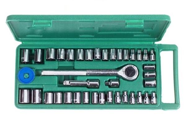 Dugókulcs készlet WP 40 részes 1/4-3/8 col 4-13mm Kód:034040