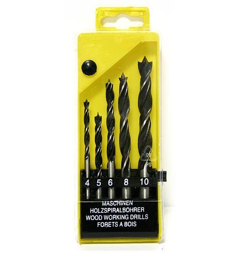 Fúró készlet 5részes fához 4-10mm műanyag dobozban Kód:042006
