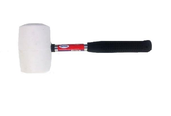 Gumikalapács fehér fém nyéllel 70mm Kód:13824