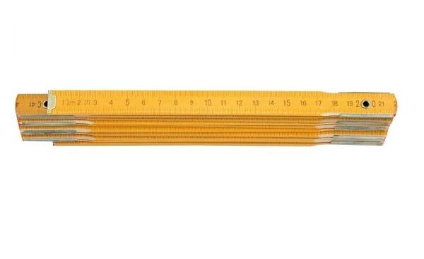 Mérővessző 1m Fa, Sárga Kód:215010