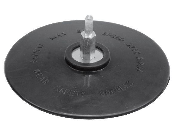 Csiszoló gumitányér 125 mm, fúróra VOREL Kód:208314
