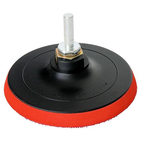 Csiszoló gumitányér tépőzáras 125 mm, fúróra és flexre Kód:222317