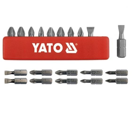 Bit készlet 1/4col 10 részes vegyes CrV. YATO Kód: YT-0482
