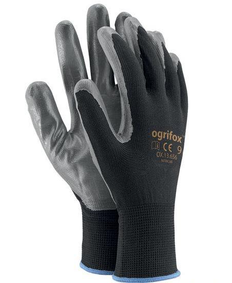 Kesztyű poliészter, nitril bevonattal OGRIFOX CE   9-es Kód:00159