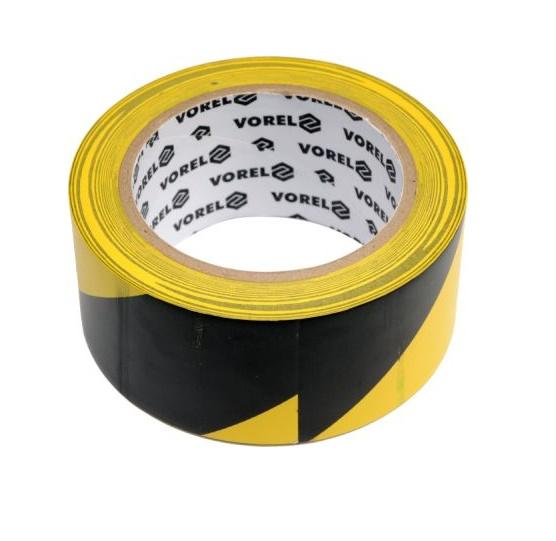 Ragasztószalag 33m×48mm Figyelmeztető Fekete-Sárga PVC Kód:275231