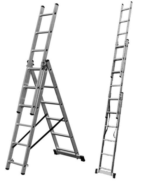 Alumínium létra 3× 6 fok, lépcsős KRAUSE  EN131 Kód:033369