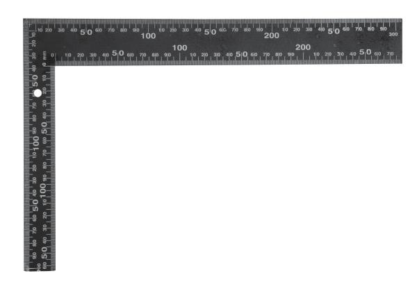 Derékszög acél 200×300mm Vorel Kód:218201
