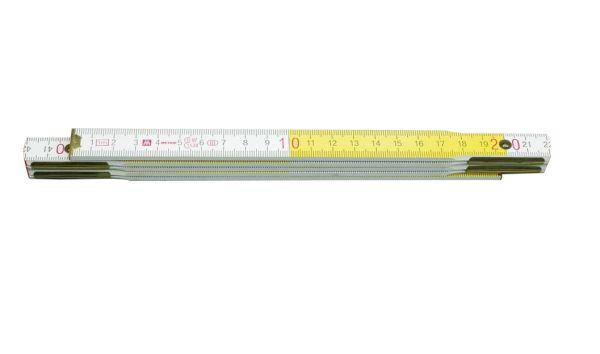 Mérővessző 2m fa fehér/sárga VOREL Kód:215006
