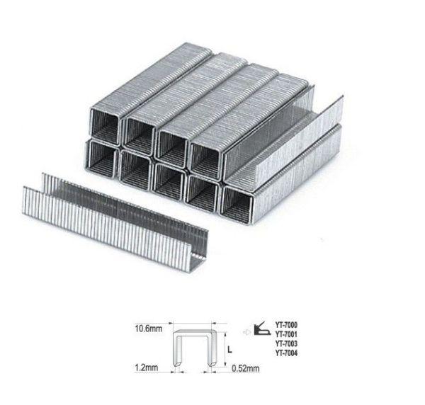Tűzőgépkapocs 8mm (1,2×10,6mm) 1000db Kód:YT-7023