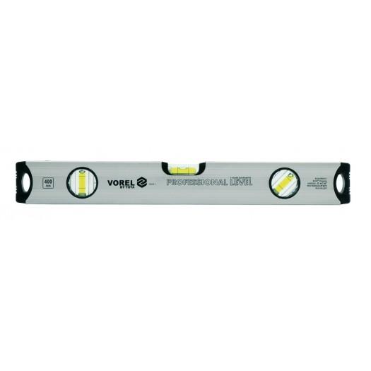 Vízmérték  400mm Alumínium 3 Libellás VOREL Kód:216551