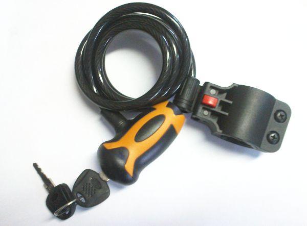 Kerékpárzár 120cm 2 Kulcsos SK Kód:252209