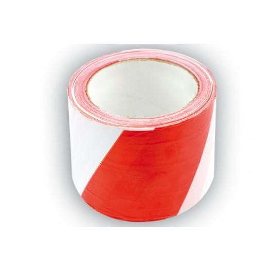 Figyelmeztető Szalag Piros/Fehér 75mm×100m VOREL Kód:275233