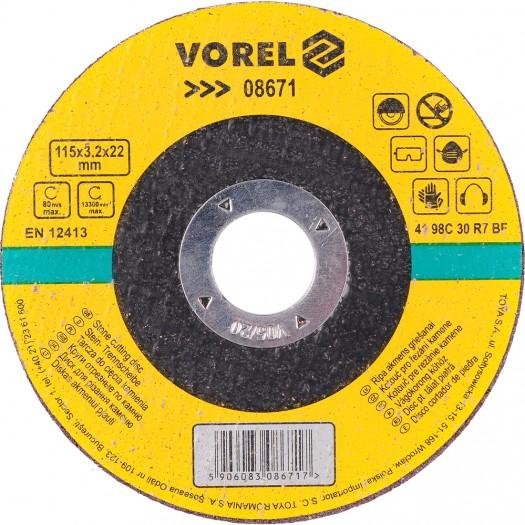 Vágókorong kőhöz 115×3,2mm 5db/készket VOREL Kód:208671