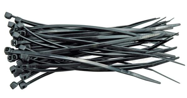 Kábelkötöző 100db 280mm fekete 4,8mm Kód:273929