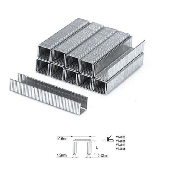 Tűzőgépkapocs 14mm (1,2×10,6mm) 1000db Kód:YT-7026