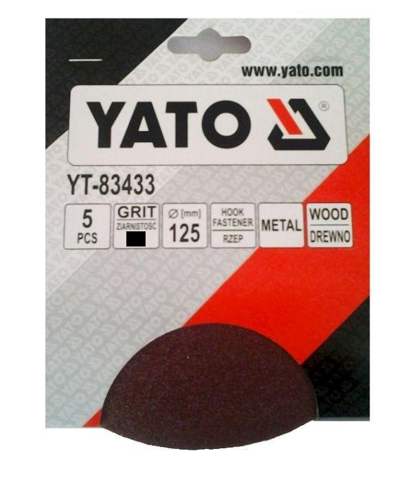 Csiszolópapír tépőzáras YATO P60×125mm 5db/csomag Kód:YT-83432