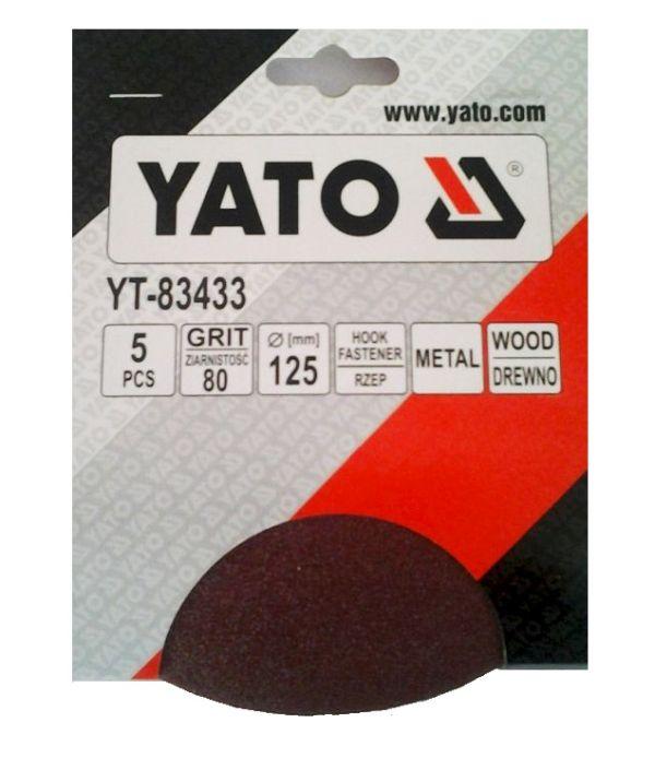 Csiszolópapír tépőzáras YATO P100×125mm 5db/csomag Kód:YT-83434