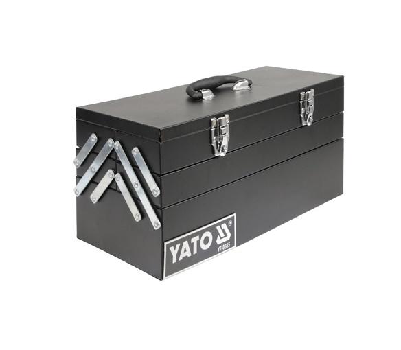 Szerszámos láda fém 460×200×225mm YATO Kód:YT-0885