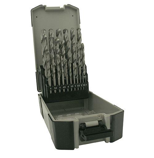 Fúró készlet 19 részes HSS-R ezüst 1-10mm SK Kód:4200547