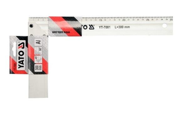 Derékszög 300mm alumínium YATO Kód:YT-7081
