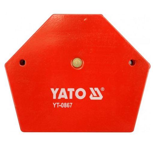 Mágneses sokszög összeillesztéshez 111×136×24mm 34kg teherbírás YATO Kód:YT-0867