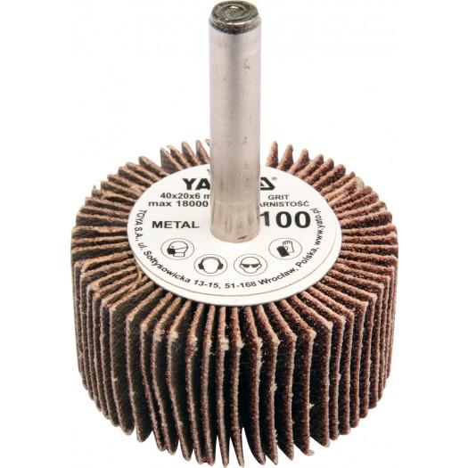 Csiszoló legyező fúrógépre P80 YATO 40×20×6mm Kód:YT-83353