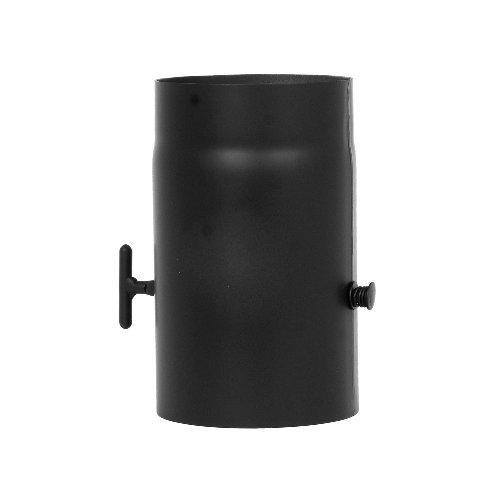 Füstcső pillangós szeleppel 160×250×2mm, vastagfalú Kód:160250p