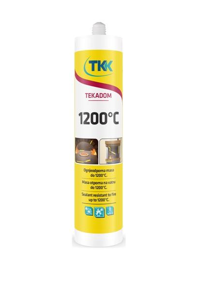 Szerelési tűzálló massza 1200 C  300ml TEKADOM Kód:TKK1200C