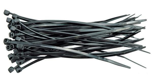 Kábelkötöző 50 részes 200mm fekete 3,6mm Kód:217057