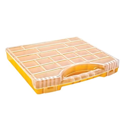 Szortiment tároló doboz műanyag 340×320×50mm Kód:35227