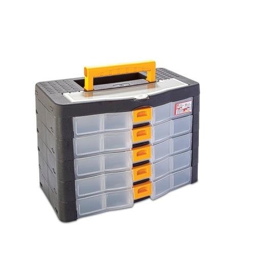 Szortiment tároló doboz 5-ös műanyag 390×190×260mm Kód:35221