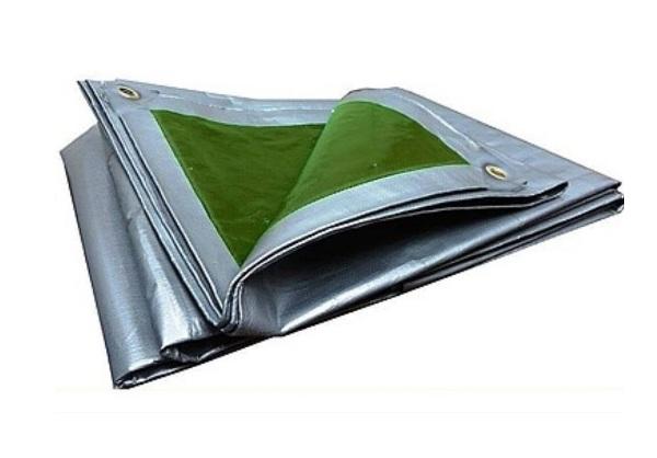 Ponyva vízhatlan 5×8m ezüst/zöld 133g/m2 Kód:252580