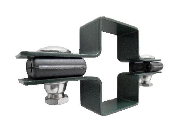 Zártszelvény kerítés bilincs KÖZTES 60×40mm ANTRACIT Kód:BKA