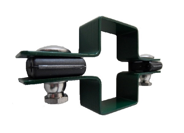 Zártszelvény kerítés bilincs KÖZTES 60×40mm ZÖLD Kód:BKZ