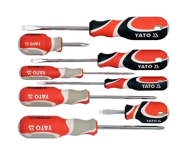 Csavarhúzó készlet 8 részes YATO SVCM55 Kód:YT-2670