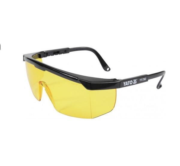 Védőszemüveg sárga CE 2-1,2 YATO Kód:YT-7362