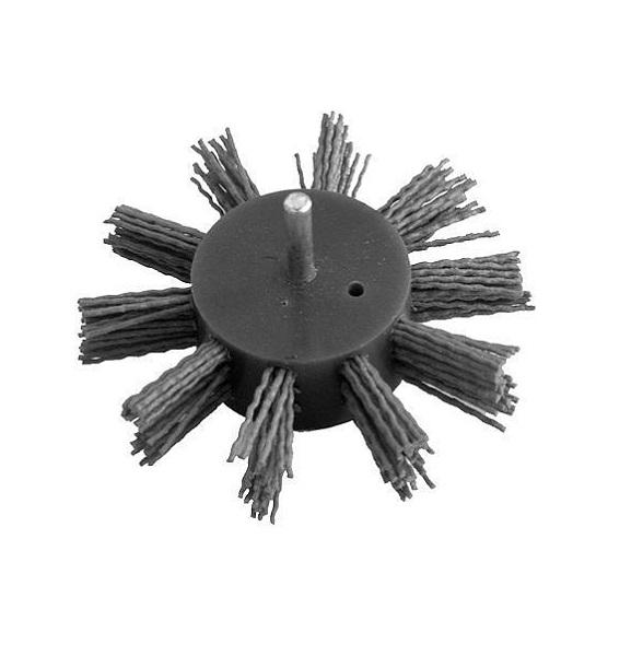 Csiszoló tárcsa lapos nylon 100mm tüskés fúrógépbe Kód:53362